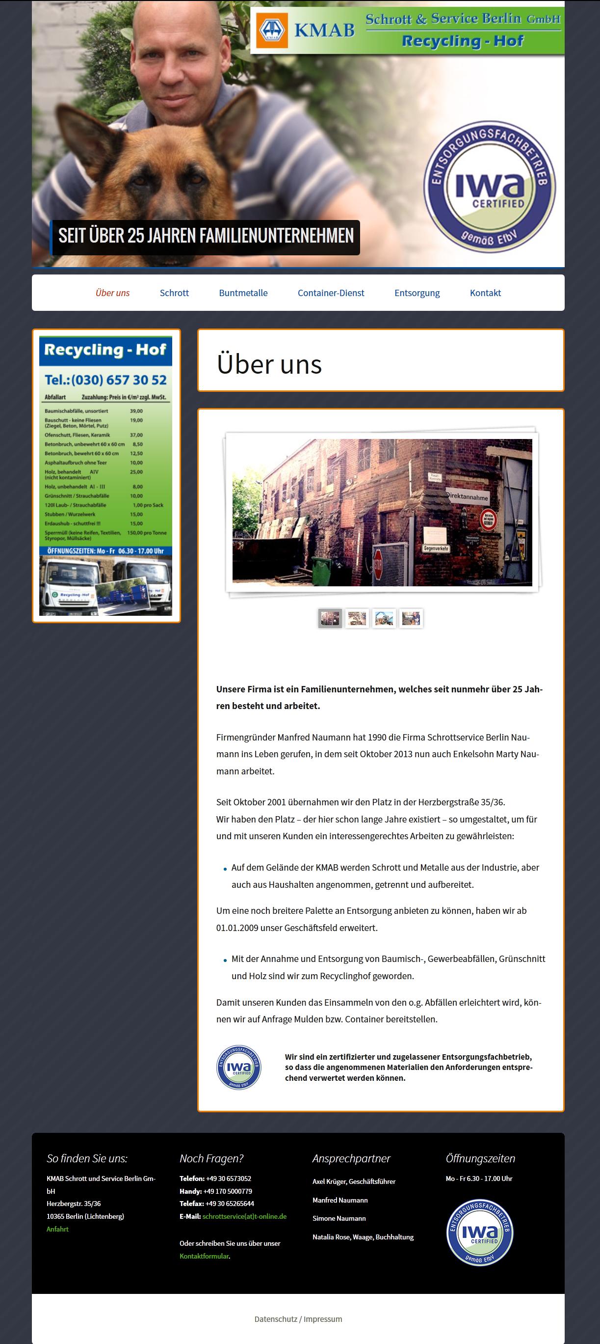 Design-Webseite-Recycling-Unternehmen_kmab